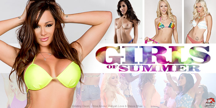 Watch Girls Of Summer from Digital Playground starring Aaliyah Love and Chloe Amour.